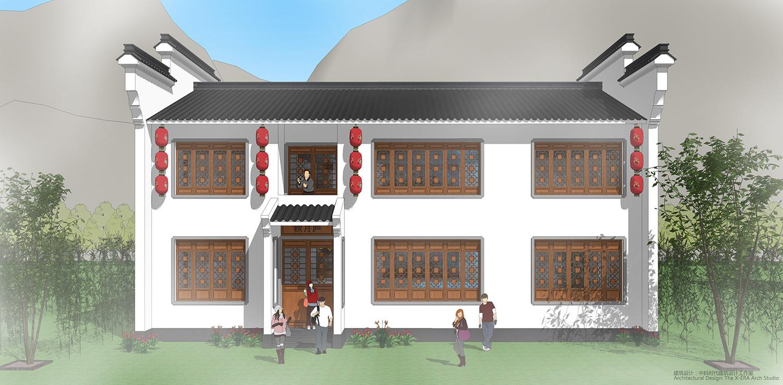易盖房图纸:怀柔农村别墅,微派建筑盖在农村更有特色