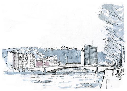 钢笔画大师gérard michel 建筑写生作品赏析